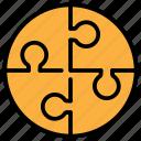 finance, jigsaw, marketing, puzzle, strategy icon