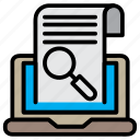 analytics, document, find, report, search, zoom icon