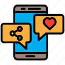 bubble, chat, communication, message, smartphone icon