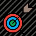 aim, focus, success, target icon