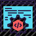 application, code, development, optimization, settings, software, web icon