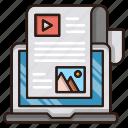 blog, content, online, optimization, seo, web icon