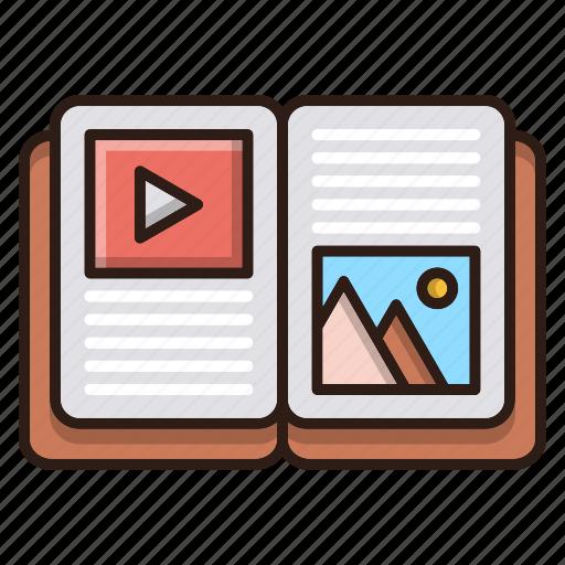 book, content, optimization, seo, web icon