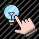 click, creative, idea, optimization, seo, web icon