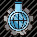 lab tube, optimization, research, seo, tests, web icon