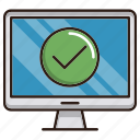 approved, online, optimization, seo, update, web icon