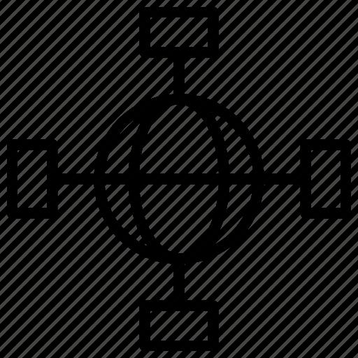 connection, internet, network, optimization, seo icon