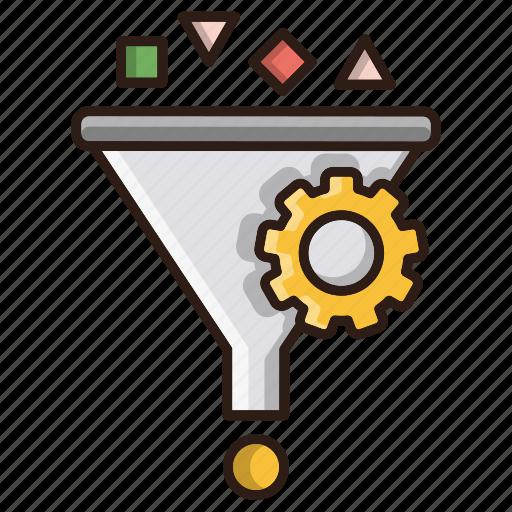 conversion, filter, optimization, seo, web icon