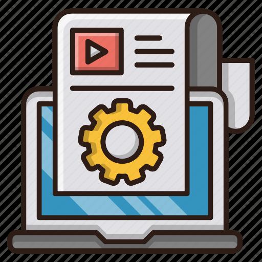 blogging, content, management, online, seo, web icon