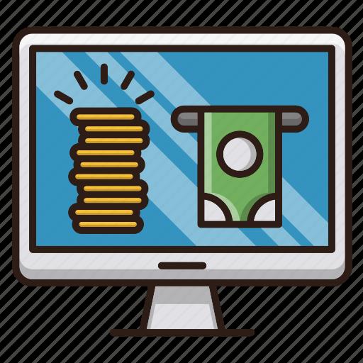 earn, online, optimization, seo, web icon