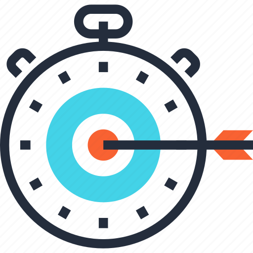optimization, performance, speed, stopwatch, target, timer, web icon
