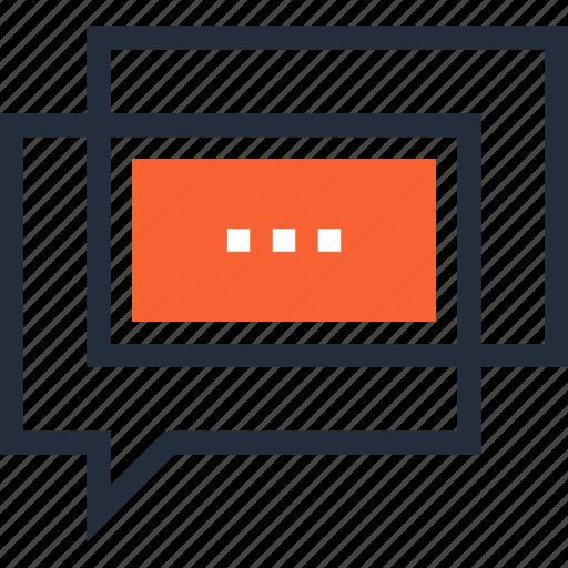 bubble, chat, communication, conversation, message, speech, talk icon