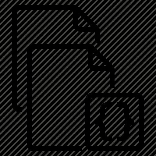 code files, development files, programming, software development, source code icon