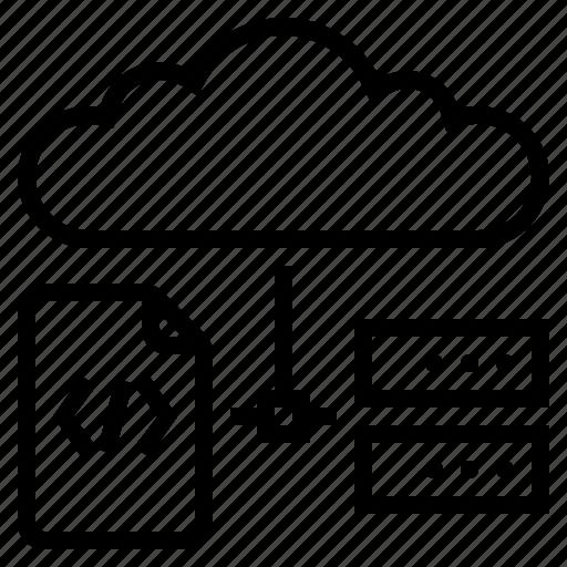 cloud computing, software programming, web development, web programming, web server icon