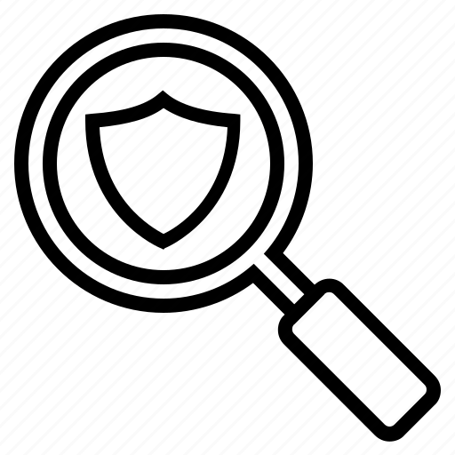 magnifying glass, protected seo, search, secure search, secure seo, seo, seo optimization icon