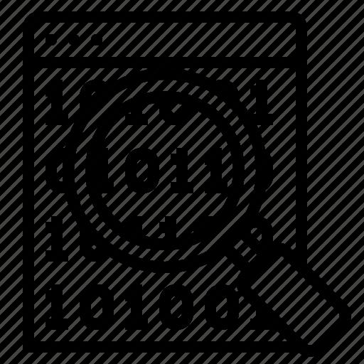 debugging, software debugging, website debugging icon