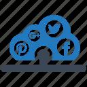 cloud, media, seo pack, seo tools, social, web designer, web marketing icon
