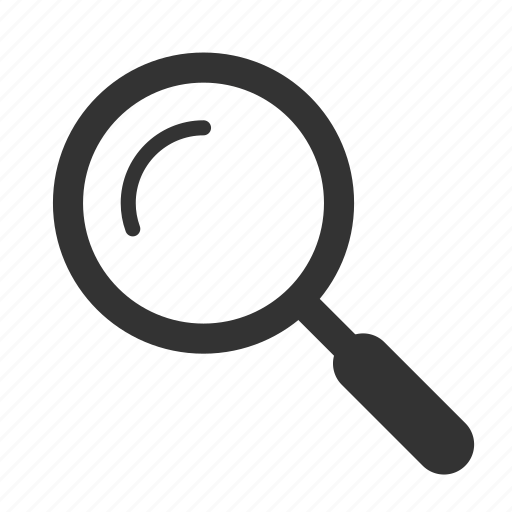 active, find, glass, magnifying, search icon