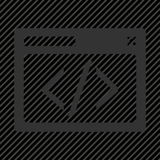 code, coding, custom, red, seo icon