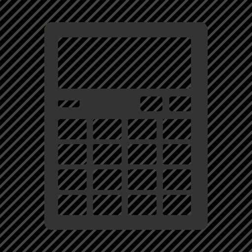 calculation, calculator, count, seo icon