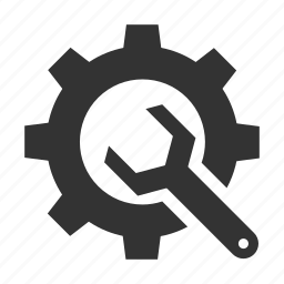 content, development tool, gear, management, setting, wrench icon