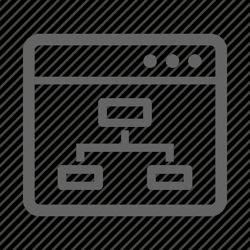 development, search, seo, site architecture, stroke, web icon