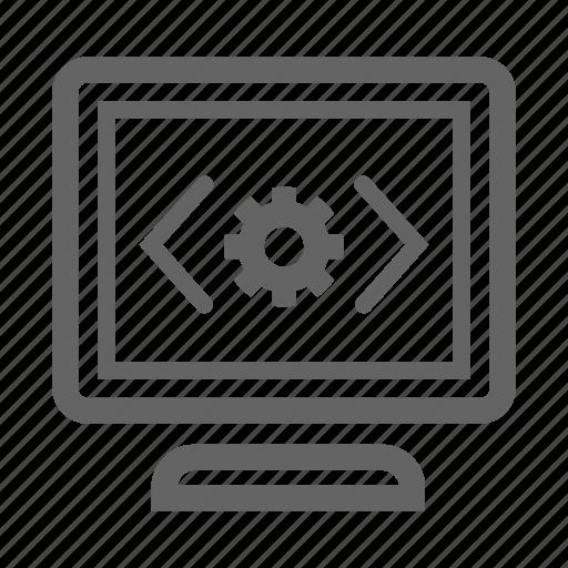 code optimization, development, search, seo, stroke, web icon