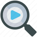 analytics, mobile marketing, search, seo, social media, video, web designer icon