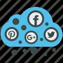 analytics, cloud, mobile marketing, seo, social, social media, web designer icon