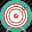 aim, archery, arrow, board, center, goal, target icon