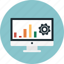 bar graph, internet traffic, monitor, optimization, setting, tweak, website icon