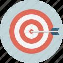 aim, archery, arrow, board, bullseye, goal, target icon