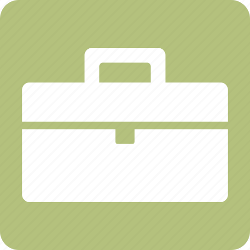 bag, case, office, office bag, portfolio, square icon
