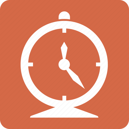 clock, deadline, red, square, time management icon