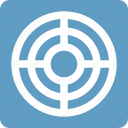 aim, blue, goal, seo, square, targeting icon