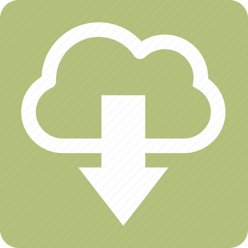 cloud, download, information, seo, square icon