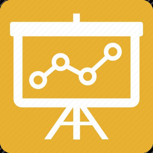 analysis, diagram, graph, presentation, seo, square, yellow icon