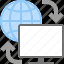 arrows, computer, internet, load, monitor, synchronize, web icon