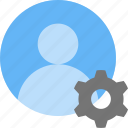 account, cog, customize, gear, profile, user