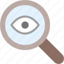 audit, check, magnifying glass, search, verification, zoom