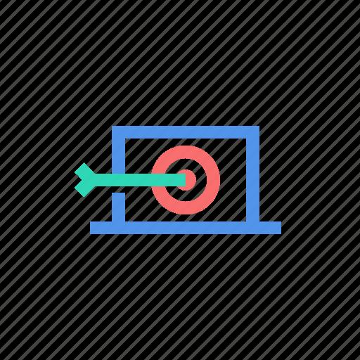 arrow, internet, marketing, search, seo, target icon