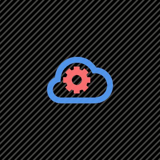 cloud, maintenance, setting icon