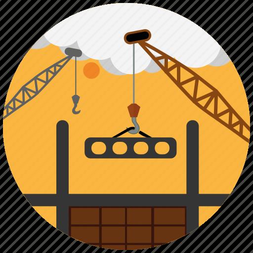 building, construction, design, develop, seo, services, vehicle icon