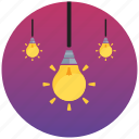 flat icon, fresh idea, idea, lamp, light, pack, seo icon
