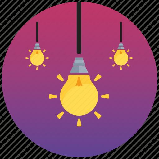flat icon, fresh idea, idea, lamp, light, pack, seo icon