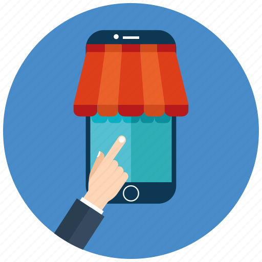 ecommerce, market, online, online marketing, seo, shopping, smartphone icon