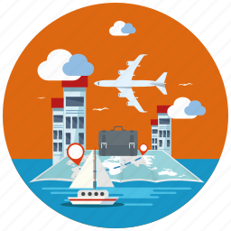 business, location, map, navigation, seo, travel, world icon