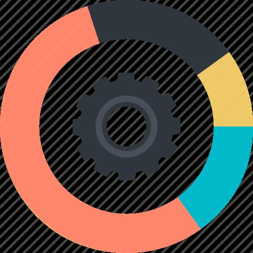 app, data, flat design, internet, management icon
