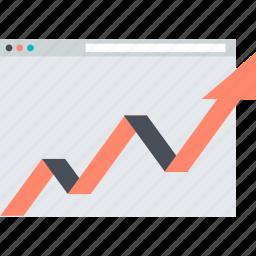 chart, flat design, internet, monitoring, seo, website icon