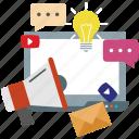 campaign, creative, development, seo icon icon